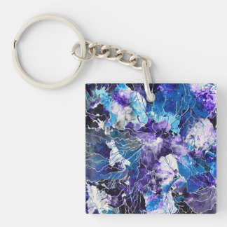 Abstract purple-blue keychain