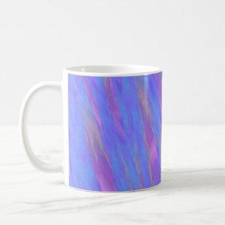 Abstract purple blue pattern coffee mug