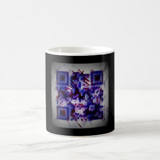 abstract purple crazy bar barcode  scanner weird coffee mug