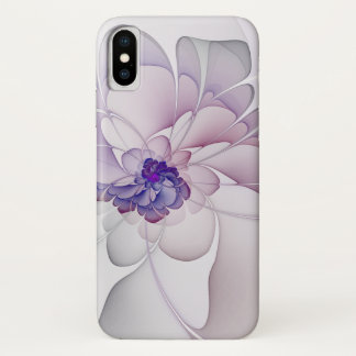 Abstract Purple Floral iPhone X Case