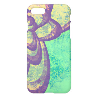 Abstract Purple Flower Design iPhone 7 Case