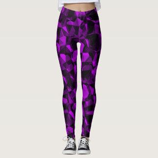 Abstract Purple Gems Leggings