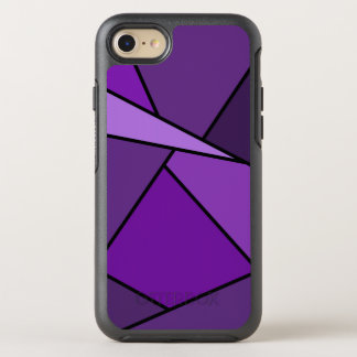 Abstract Purple Geometric Shapes OtterBox Symmetry iPhone 7 Case