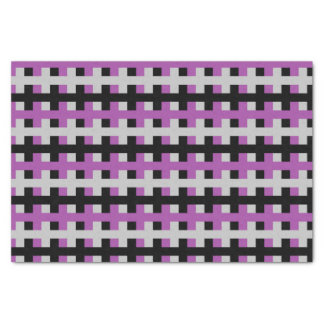 Abstract Purple, Grey and Black Tissue Paper