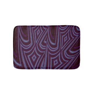 Abstract Purple Harlequin Bath Mat