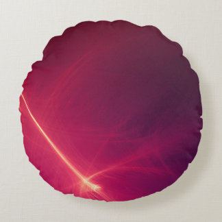 Abstract Purple Light Wave Round Pillow