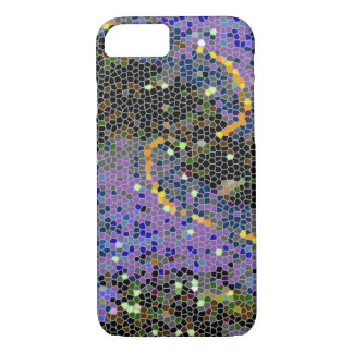 Abstract Purple Mosaic iPhone 7 Case