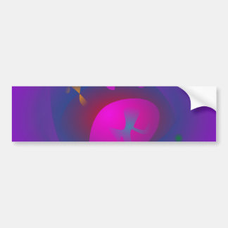 Abstract Purple Nebula Art Bumper Sticker