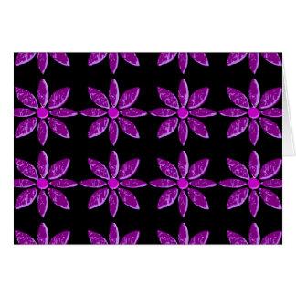 Abstract Purple Petals Card
