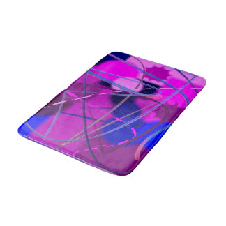 Abstract Purple PInk and Blue Bathroom Mat