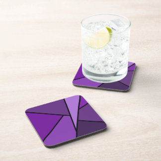 Abstract Purple Polygons Coaster