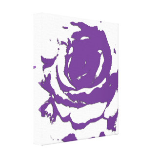Abstract Purple Rose Canvas Art