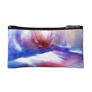 Abstract Purple Shore Bagette Makeup Bag