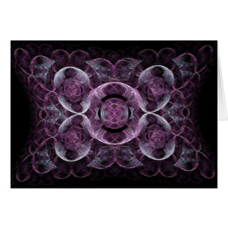 Abstract Purple Swirls Fractal Art Design Gifts Card