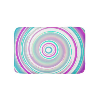 Abstract Purple Teal Spiral Bath Mat