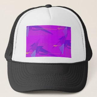 Abstract purple trucker hat