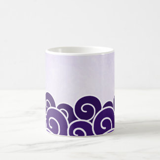Abstract Purple Waves Coffee Tea Cup Mug