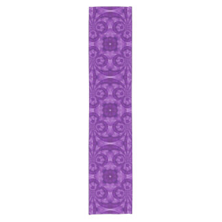 Abstract Purple Wood Pattern Short Table Runner