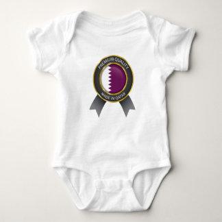 Abstract Qatar Flag, Qatari Colors Baby  Cloth Baby Bodysuit