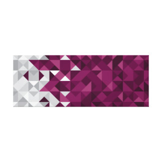 Abstract Qatar Flag, Qatari Colors Canvas