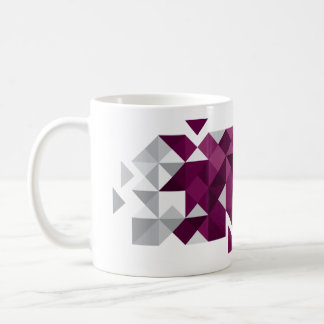 Abstract Qatar Flag, Qatari Colors Mug