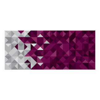 Abstract Qatar Flag, Qatari Colors Poster