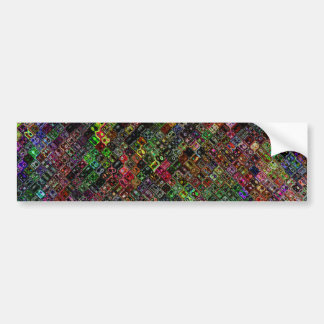 Abstract Quilt Bumper Stickers