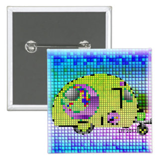 Abstract Quilted Caravan Button