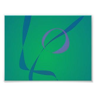 Abstract Rabbit Green Photo Print