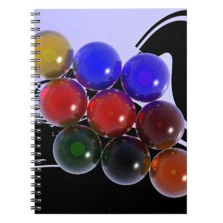 Abstract Rack Billiards 101 Spiral Notebooks