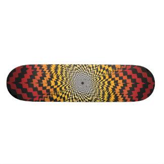 Abstract Radial Design: Custom Skateboard
