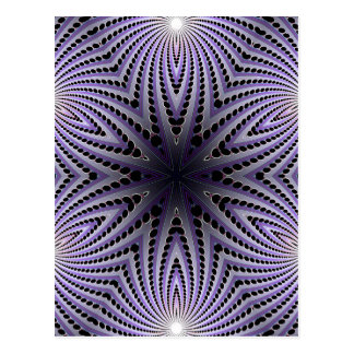 Abstract Radial Design: Postcard