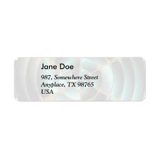 Abstract radial object return address label