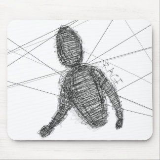 Abstract Rage Mouse Pad