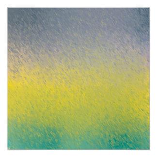 Abstract Rain Poster