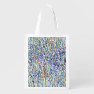 Abstract Rain Reusable Grocery Bag