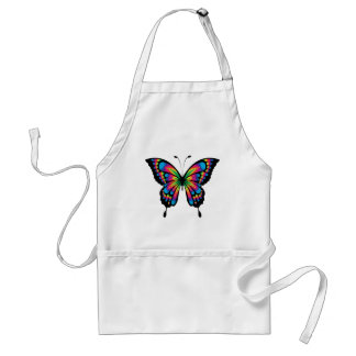 Abstract Rainbow Butterfly Standard Apron