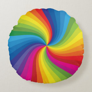Abstract rainbow color pillow