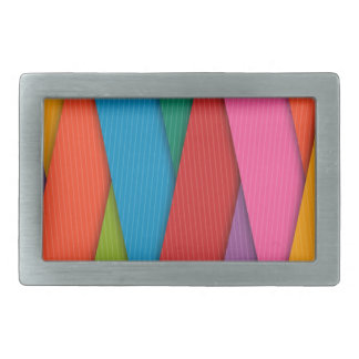 Abstract Rainbow Colors Background Belt Buckles