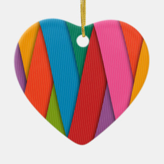 Abstract Rainbow Colors Background Ceramic Ornament