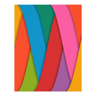 Abstract Rainbow Colors Background Letterhead