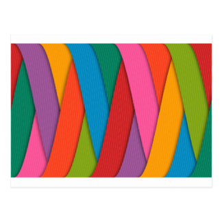 Abstract Rainbow Colors Background Postcard