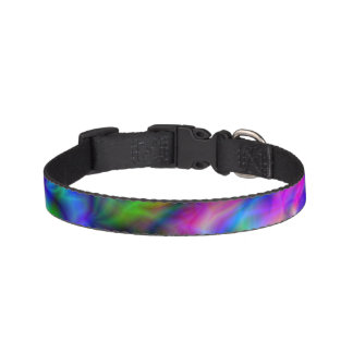 Abstract Rainbow Colors Pet Collar