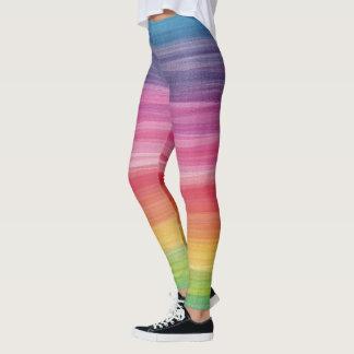 Abstract Rainbow Digital Painting Leggings