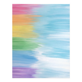 Abstract Rainbow Letterhead