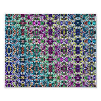 Abstract Rainbow Mandala Fractal Art Photo