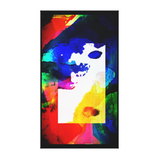 Abstract Rainbow of Colors Canvas Print