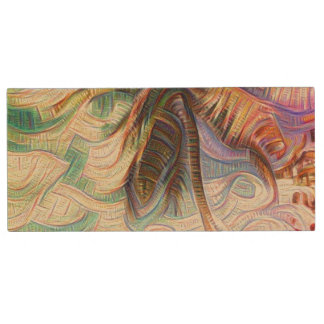 Abstract Rainbow Palm Tree Wood USB 2.0 Flash Drive