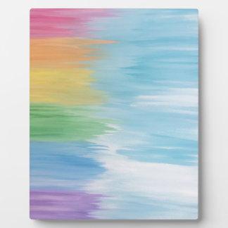 Abstract Rainbow Plaque
