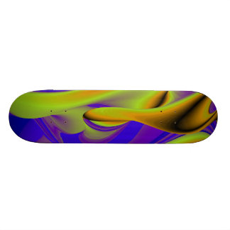 Abstract Rainbow Custom Skateboard